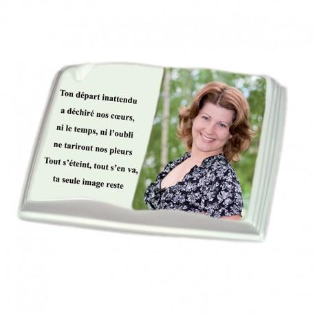 Livre porcelaine avec photo personnalisée en couleur