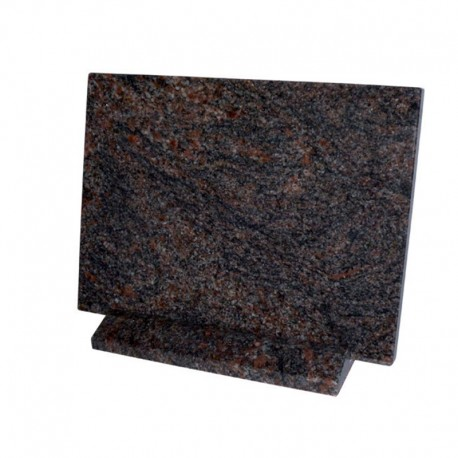 Plaque rectangle en granit sur socle